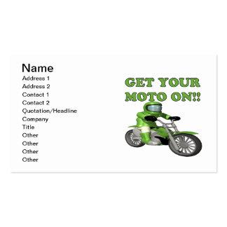 Consiga su Moto encendido Tarjetas Personales