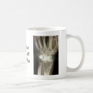 Consiga sus manos de mi café taza de café