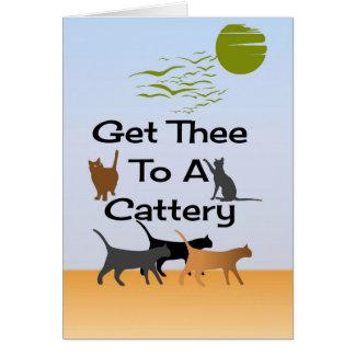 Consiga Thee a una tarjeta de felicitación de la