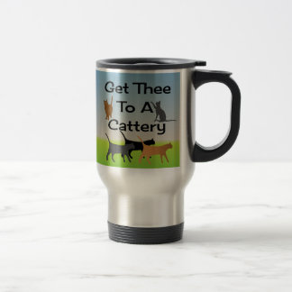 Consiga Thee a una taza del viaje de la gatería
