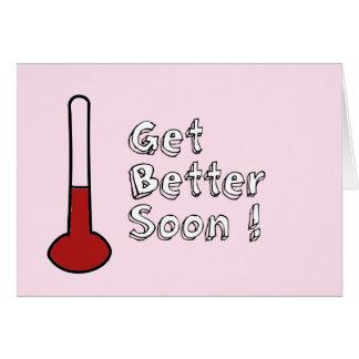 Consiga un mejor pronto rosa de la tarjeta