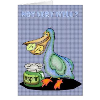 Consiga una mejor pronto tarjeta, pelícano tarjeta de felicitación