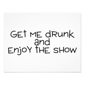 Consígame borracho y disfrute de la demostración anuncio personalizado