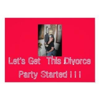 ¡Consigamos este fiesta del divorcio comenzado! … Invitación 12,7 X 17,8 Cm