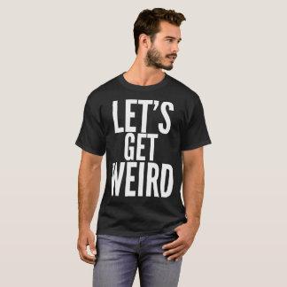 Consigamos la camiseta extraña de la tipografía