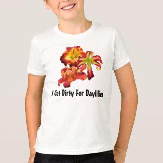 Consigo sucio para la camiseta de los Daylilies