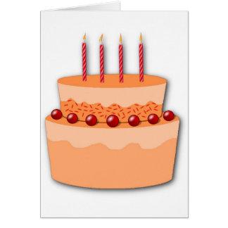 Consiguiendo la tarjeta de cumpleaños vieja