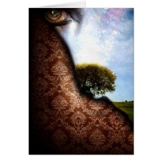 Consolación (poster del arte abstracto) tarjeta de felicitación
