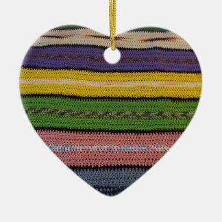 Consolador hecho punto adorno de cerámica en forma de corazón