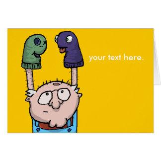 Conspiración de la marioneta del calcetín tarjeta pequeña