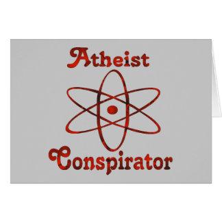 Conspirador ateo tarjeta