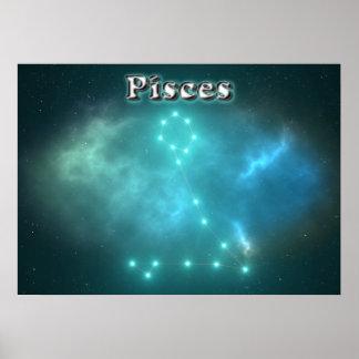 Constelación de Piscis Póster