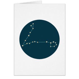 Constelación de Piscis Tarjeta De Felicitación
