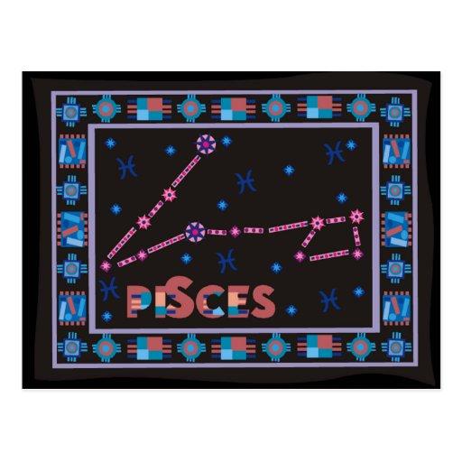 Constelación de Piscis Tarjetas Postales