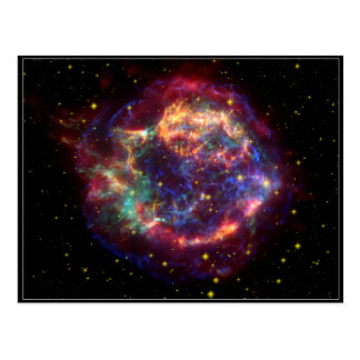 Constelación del Cassiopeia Tarjetas Postales