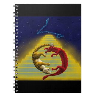 Constelación del tigre del dragón cuaderno