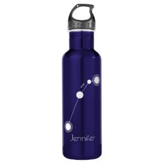Constelación personalizada del zodiaco del aries botella de agua