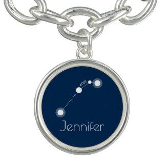 Constelación personalizada del zodiaco del aries pulseras con dijer