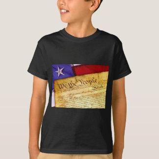 Constitución de los E.E.U.U. y bandera americana Camiseta