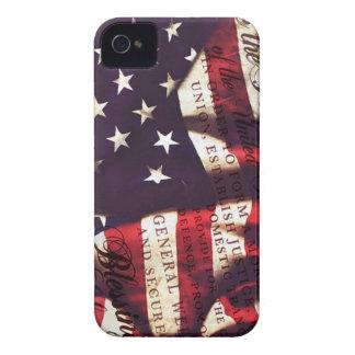 Constitución de los E.E.U.U. y bandera americana Funda Para iPhone 4 De Case-Mate