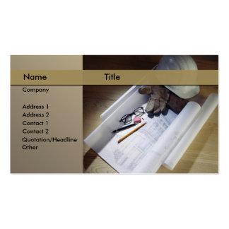 construcción arquitecto tarjetas de negocios