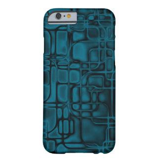 Construcción azul de la matriz funda para iPhone 6 barely there