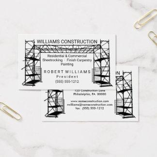Construcción blanca de la pintura el | del negro tarjeta de visita