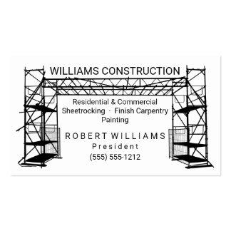 Construcción blanca de la pintura el | del negro tarjetas de visita