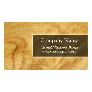construcción carpintería tarjeta de negocio