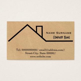 construcción, constructor, carpintero, remodelando tarjeta de negocios