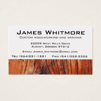Construcción de trabajo del gabinete de madera tarjeta de visita