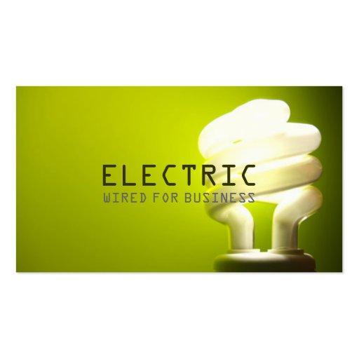 Construcción eléctrica de la electricidad del plantillas de tarjetas personales