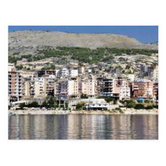 Construcción en la ciudad de Sarande en Albania Postal