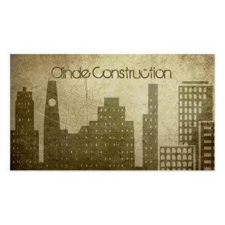 Construcción (mejor premio de hoy) plantilla de tarjeta personal