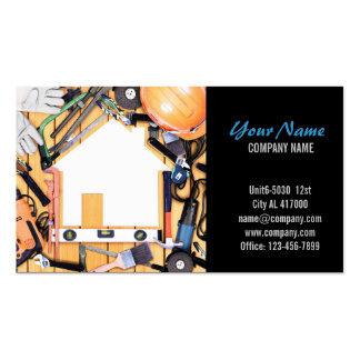 Construcción moderna de la carpintería de la manit plantillas de tarjeta de negocio
