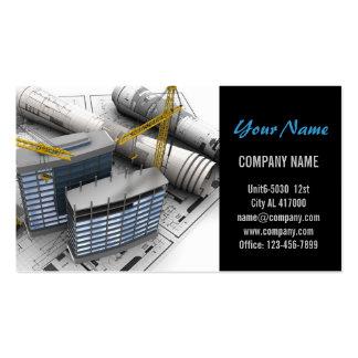 Construcción moderna de la carpintería de la tarjetas de visita