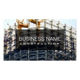 Construcción profesional tarjetas de visita