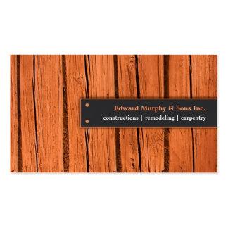 Construcciones tarjeta de visita de la carpintería