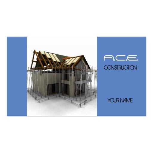 Constructores/tarjeta de visita de construcción tarjetas de visita