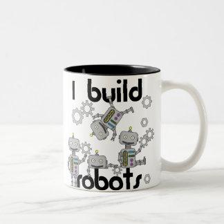Construyo los robots taza de café de dos colores