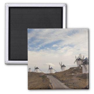 Consuegra, molinoes de viento antiguos 4 de Mancha Imán Cuadrado
