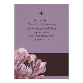 Consuelo - la pérdida le agradece tarjeta de nota comunicados personales
