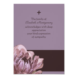 Consuelo - la pérdida le agradece tarjeta de nota invitación 11,4 x 15,8 cm