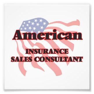 Consultor americano de las ventas del seguro impresiones fotográficas