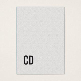 Consultor blanco del monograma de la textura tarjeta de visita