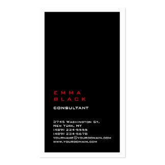 Consultor blanco rojo negro llano vertical de la tarjetas de visita