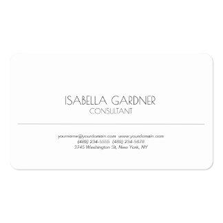 Consultor creativo minimalista blanco simple tarjetas de visita