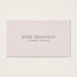 Consultor de belleza rosa claro elegante simple tarjeta de negocios