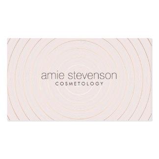 Consultor de belleza rosa claro elegante simple tarjetas de visita