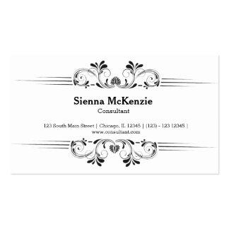 Consultor decorativo plantillas de tarjetas de visita